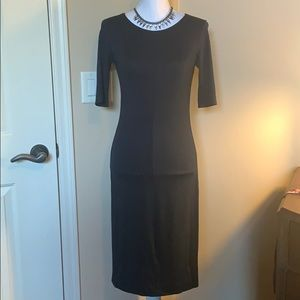 Diane Von Furstenberg Navy Blue Raquel Dress Small
